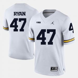#47 Jake Ryan Michigan Wolverines College Football Men Jersey - White