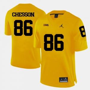 #86 Jehu Chesson Michigan Wolverines College Football Men's Jersey - Yellow