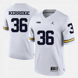 #36 Joe Kerridge Michigan Wolverines College Football Men's Jersey - White