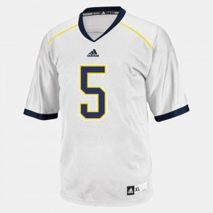 #5 John Wangler Michigan Wolverines Men's College Football Jersey - White