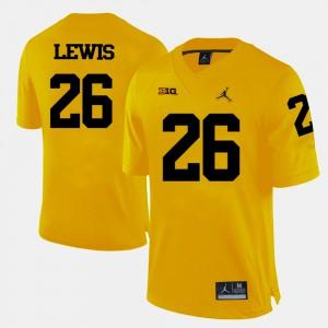 #26 Jourdan Lewis Michigan Wolverines College Football Men Jersey - Yellow