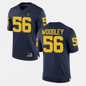 #56 Lamarr Woodley Michigan Wolverines Alumni Football Game For Men Jersey - Navy