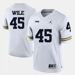 #45 Matt Wile Michigan Wolverines For Men College Football Jersey - White