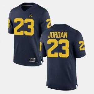 #23 Michael Jordan Michigan Wolverines Alumni Football Game Mens Jersey - Navy