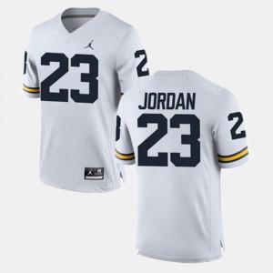 #23 Michael Jordan Michigan Wolverines Men Alumni Football Game Jersey - White