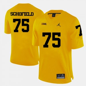 #75 Michael Schofield Michigan Wolverines College Football For Men's Jersey - Yellow