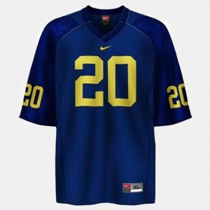 #20 Mike Hart Michigan Wolverines College Football Youth(Kids) Jersey - Blue