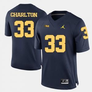 #33 Taco Charlton Michigan Wolverines College Football Mens Jersey - Navy Blue
