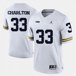 #33 Taco Charlton Michigan Wolverines College Football Mens Jersey - White