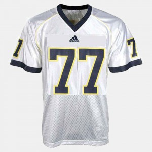 #77 Taylor Lewan Michigan Wolverines College Football For Kids Jersey - White