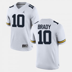 #10 Tom Brady Michigan Wolverines For Men's Alumni Football Game Jersey - White