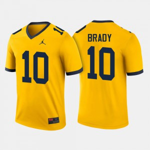 #10 Tom Brady Michigan Wolverines For Men College Football Jersey - Maize