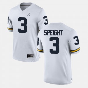 #3 Wilton Speight Michigan Wolverines Men Alumni Football Game Jersey - White