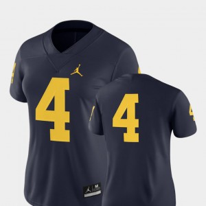#4 Michigan Wolverines For Women's 2018 Game College Football Jersey - Navy